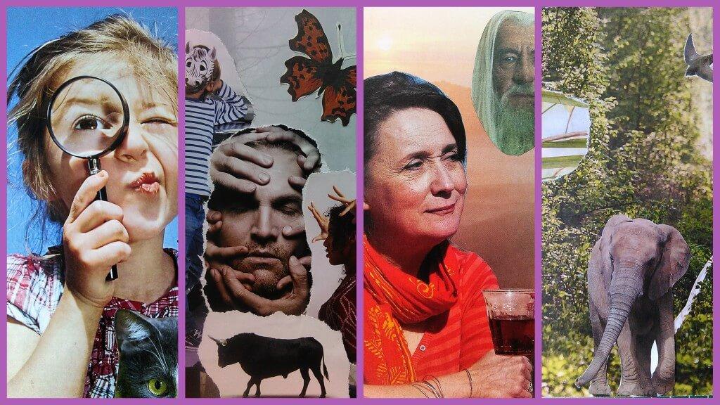 collage verbeeldingskaarten