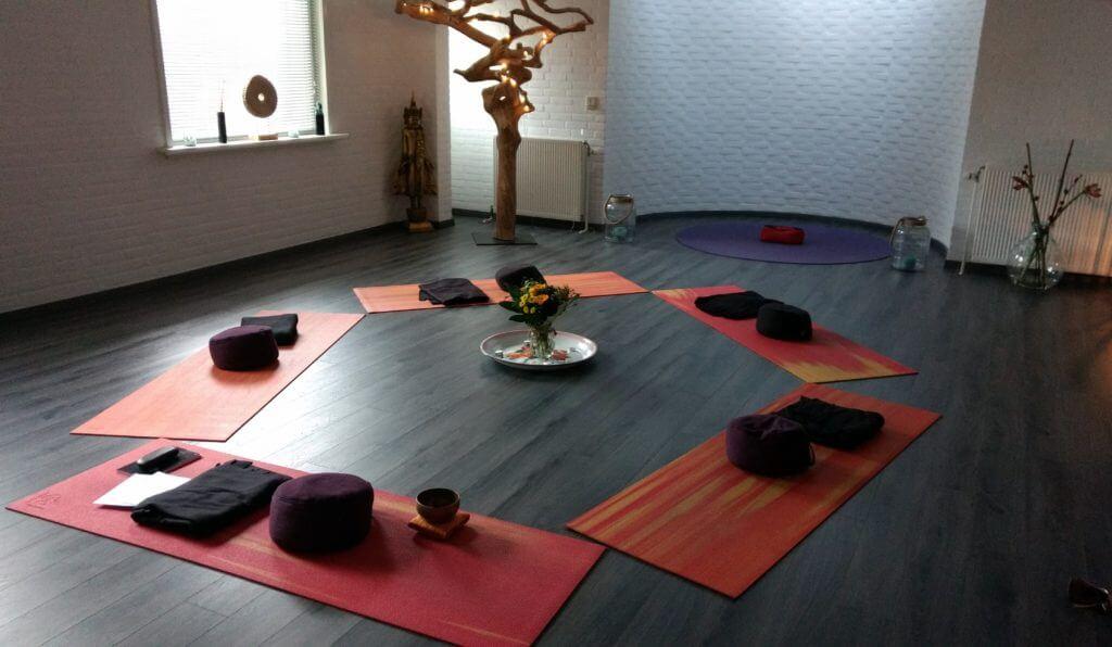 De meditatieruimte in Azil centrum voor Levenskunst, te Dordrecht